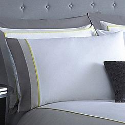 J by Jasper Conran - Grey 'Wilton' Oxford pillow case pair