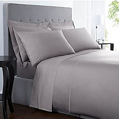 J By Jasper Conran   Grey Supima Cotton 500 Thread Count Fitted Sheet