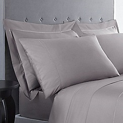 J by Jasper Conran - Grey Supima cotton 500 thread count pillow case pair