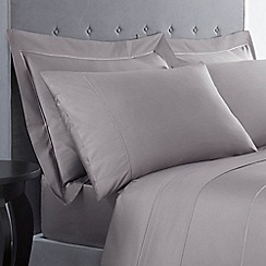 J by Jasper Conran - Grey Supima cotton 500 thread count Oxford pillow case pair