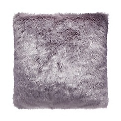 RJR.John Rocha - Light purple faux fur cushion