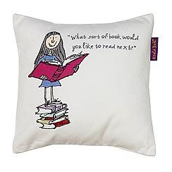 Roald Dahl - Multi-coloured 'Matilda Book' cushion