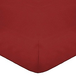 Home Collection - Red cotton rich percale fitted sheet