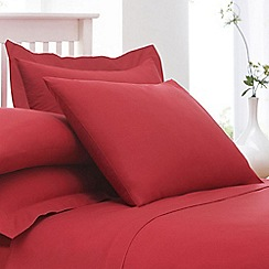 Home Collection - Red cotton rich percale Oxford pillow case pair
