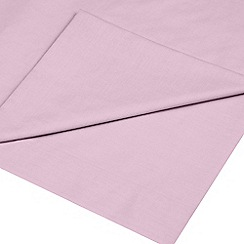 Home Collection - Light pink cotton rich percale flat sheet