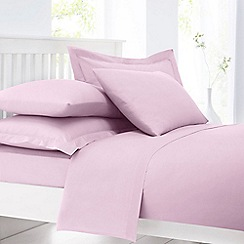 Home Collection - Light pink cotton rich percale duvet cover