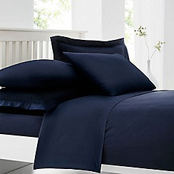 Home Collection - Navy cotton rich percale fitted sheet