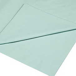 Home Collection - Turquoise cotton rich percale flat sheet