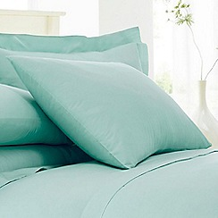 Home Collection - Turquoise cotton rich percale pillow case pair