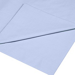 Home Collection - Pale blue cotton rich percale 180 thread count flat sheet