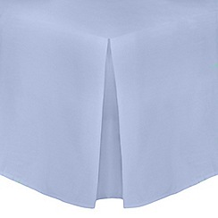 Home Collection - Pale blue cotton rich percale 180 thread count valance trims