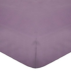Home Collection - Lilac cotton rich percale fitted sheet