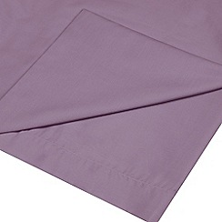 Home Collection - Lilac cotton rich percale flat sheet