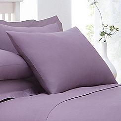 Home Collection - Lilac cotton rich percale pillow case pair