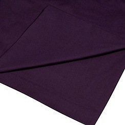 Home Collection - Plum cotton rich percale flat sheet