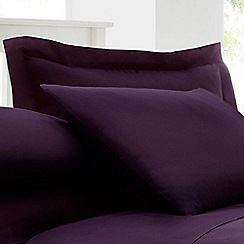 Home Collection - Plum cotton rich percale Oxford pillow case pair