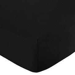 Home Collection - Black cotton rich percale fitted sheet