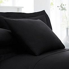 Debenhams - Black cotton rich percale pillow case pair