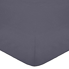 Home Collection - Grey cotton rich percale fitted sheet