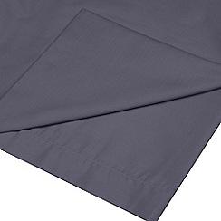 Debenhams - Grey cotton rich percale flat sheet
