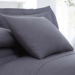 Home Collection - Grey cotton rich percale pillow case pair