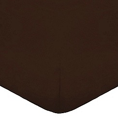 Home Collection - Dark brown cotton rich percale fitted sheet
