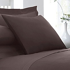Home Collection - Dark brown cotton rich percale pillow case pair