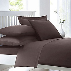 Home Collection Dark Brown Cotton Rich Percale Duvet Cover