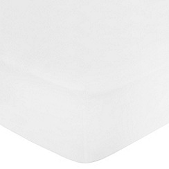 Home Collection - White cotton rich percale fitted sheet