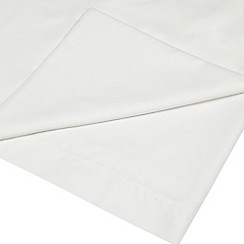Home Collection - White cotton rich percale flat sheet