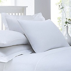 Home Collection - White cotton rich percale Oxford pillow case pair