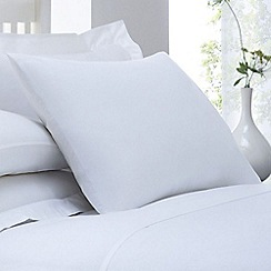Home Collection - White cotton rich percale standard pillow case pair