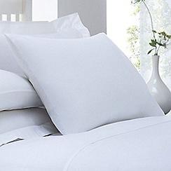 Debenhams - White cotton rich percale standard pillow case pair