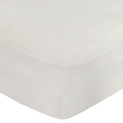 Home Collection - Cream cotton rich percale deep fitted sheet