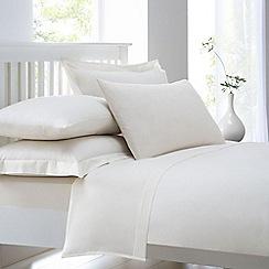 Home Collection - Cream cotton rich percale duvet cover