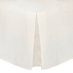 Home Collection - Cream cotton rich percale valance trims