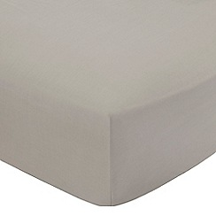 Home Collection - Natural cotton rich percale fitted sheet