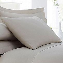 Home Collection - Natural cotton rich percale pillow case pair