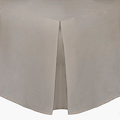 Home Collection - Natural cotton rich percale valance sheet