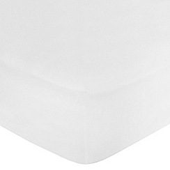 Home Collection Basics - White polycotton fitted sheet