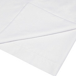 Home Collection Basics - White polycotton flat sheet