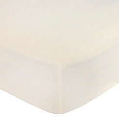 Home Collection Basics - Cream polycotton fitted sheet