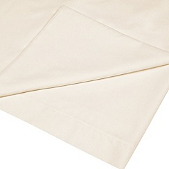 Home Collection Basics - Cream polycotton flat sheet