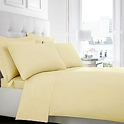 Home Collection - Yellow Egyptian cotton 200 thread count flat sheet