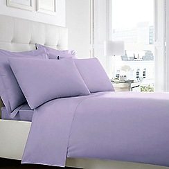 Home Collection - Light purple Egyptian cotton 200 thread count duvet cover