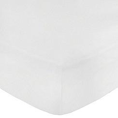 Debenhams - White Egyptian cotton 200 thread count fitted sheet