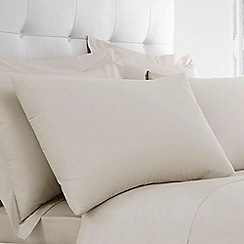 Home Collection - Ivory Egyptian cotton 200 thread count pillow case pair