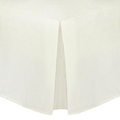 Home Collection - Ivory Egyptian cotton 200 thread count valance trims