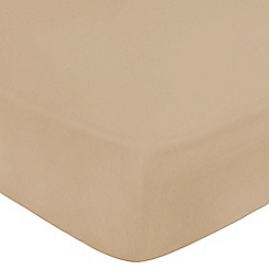 Home Collection - Taupe Egyptian cotton 200 thread count fitted sheet