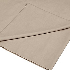 Home Collection - Taupe Egyptian cotton 200 thread count flat sheet